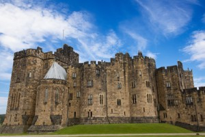 Alnwick Castle, Northumberland, England. Location for Hogwarts in Harry Potter.
