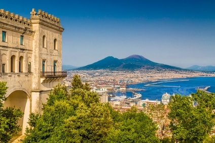 Rome road trip - Naples overlooking Mount Vesuvius
