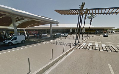 Collecting a Hire Car at Faro Airport: Covered walkway