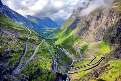 Driving the Trollstigen Mountain Road