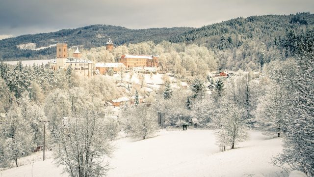 Winter hiking in the Czech Republic