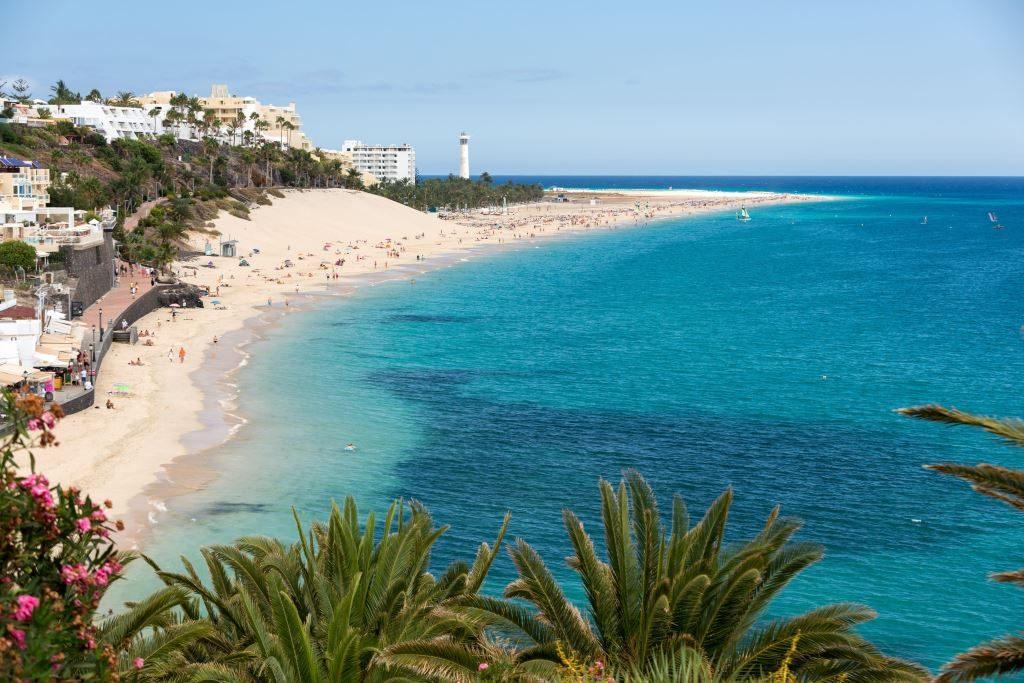 Canary Islands Fuerteventura Stock Morro Jable Beach Wjarek Minstock Places Stay Tenerife