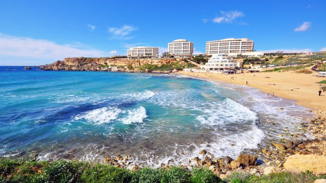 Best beaches in Malta: Golden Bay