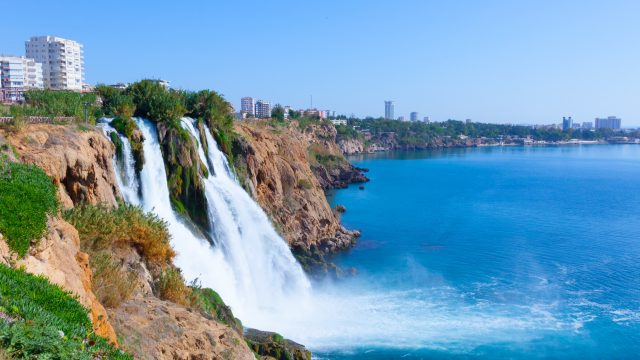 Waterfall in Antalya, Turkey; Turkish Riveria; Turkey road trip
